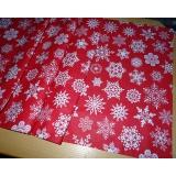 Vánoční běhoun-červeno bílé vločky 50/180