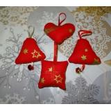 vánoční sada -červeno zlatá