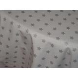 Vánoční ubrus bílý -stříbrné hvězdy 120/160