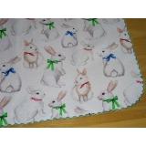 Velikonoční běhoun -bílý králíček-40/140