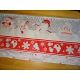 Vánoční běhoun- sněhuláci 190/45