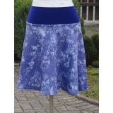 sukně švestkově modrá-M