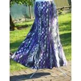 letní sukně -černo fialová s šedou