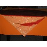 Vánoční ubrus oranžovo zlatý 60/85