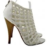 Dámské boty v barvě slonová kost, vel.40