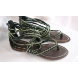 Černo stříbrné letní sandálky vel.41