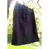 Černá sukně s vázaním vepředu vel.36
