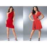 Červené šaty s variabilním zavazováním vel. 44/46