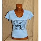 Modré tričko s vodním ptákem, vel.L