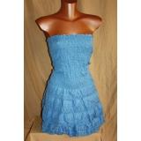 Letní modré šaty Orsay, vel. M