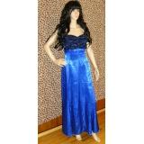 Modré plesové šaty, vel. M?