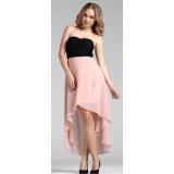 Nové růžovo černé společenské šaty Rainbow vel.42