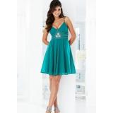 Smaragdově zelené společenské šaty, vel.38