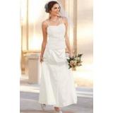 Svatební bílá saténová sukně vel. 38