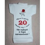 Tričko na láhev k dvacátým narozeninám