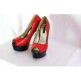 Třpytivé červené high heels botky Sergio Todzi vel.38
