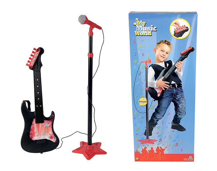 Dětská kytara s mikrofonem