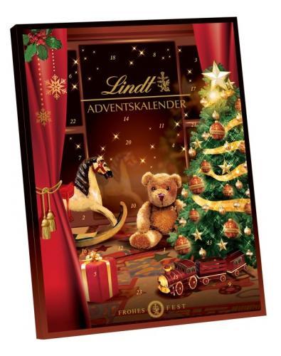 Adventní kalendář Lindt - červený