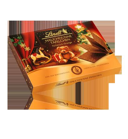 Lindt - Alpská mléčná čokoláda s pomerančovou příchutí 125g