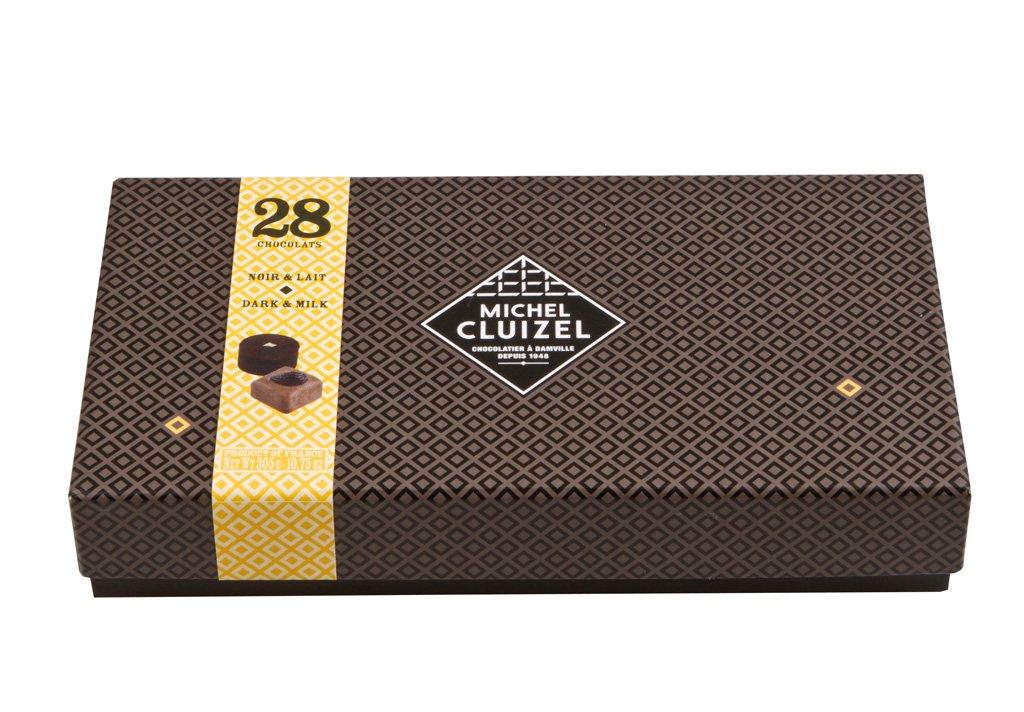 Bonboniéra Michel Cluizel 28 Chocolats Noir & Lait 305 g