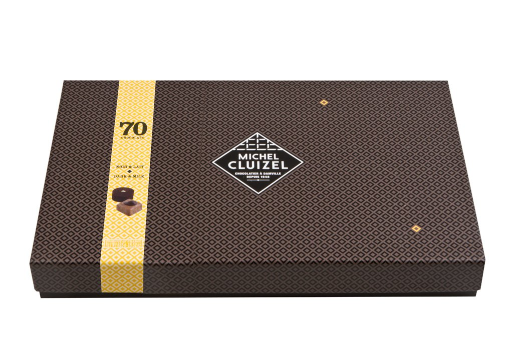 Bonboniéra Michel Cluizel 70 Chocolats Noir & Lait 765 g