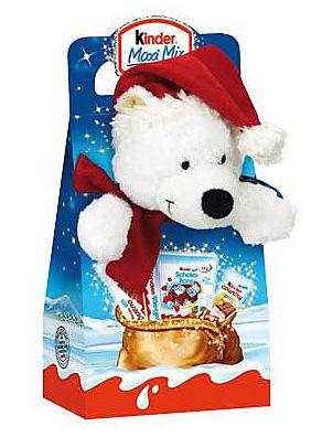 Kinder Maxi mix 133g s vánočním plyšákem MEDVĚD