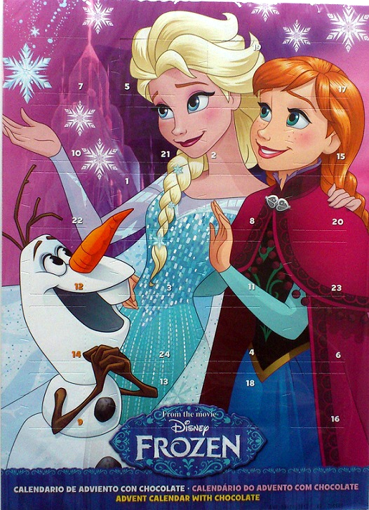 Adventní kalendář princezna Elsa