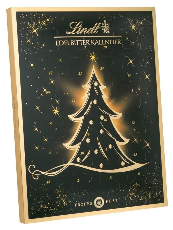 Lindt adventní kalendář s hořkými čokoládkami 70% 250g