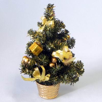 Stromek zdobený umělý 30cm zlatá