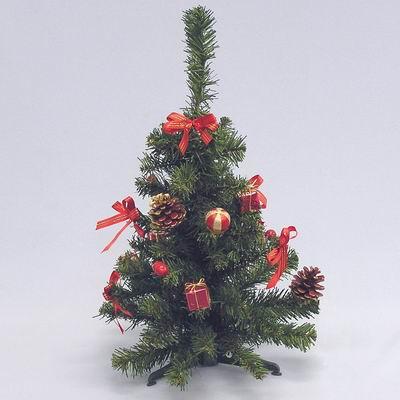 Stromek zdobený umělý 45cm červená