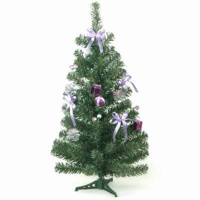 Stromek zdobený umělý 60cm fialová