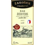 Julie, známkové víno, pozdní sběr 2017