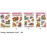 Okenní dekorační folie Klobouček a květiny 868