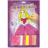 Princezna  3D mozaikový obrázek