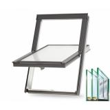 Trojsklo - Plastové střešní okno BALIO s lemováním 55x78 cm