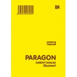 Paragon daňový doklad číslovaný A6 propis