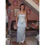 korzetové šaty modro šedé X011