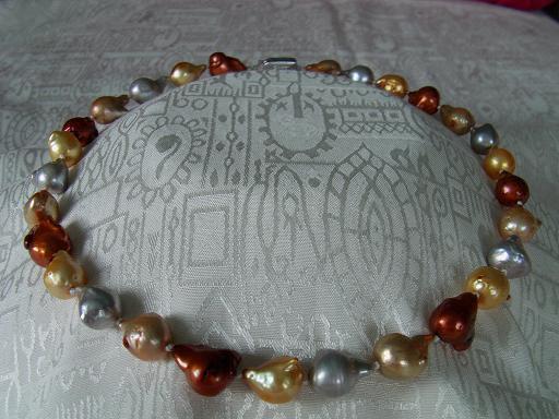 Perlový náhrdelník pravé multicolor reborn keshi jezerní perly 20mm N1486 a45b5bb6d42