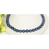 Perlový náhrdelník modré jezerní perly 12mm NJ10016