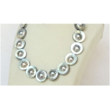 Perlový náhrdelník mořské šedostříbrné South sea mabe perly 22mm NJ10153