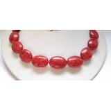 Náhrdelník červený korál 18x25mm NJ5198