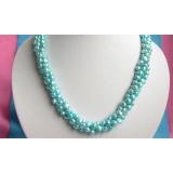 Perlový náhrdelník pravé jezerní perly 8mm N1773