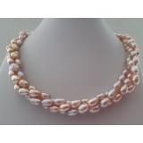 Perlový náhrdelník jezerní levandulové perly ES128