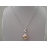 Perlový přívěšek jezerní levandulová obláčková barokní perla 18mm, PS009