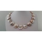 Perlový náhrdelník mořské champagne south sea mabe perly 22mm YY284