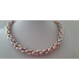 Perlový náhrdelník jezerní levandulové perly 7mm ES149