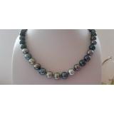 Perlový náhrdelník mořské perly tahiti 11mm ES133