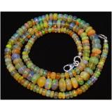 Náhrdelník přírodní etiopský duhový opál ID006