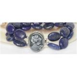 Náramek modrý lapis lazuli 20mm BJ6436
