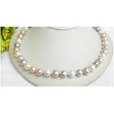 Perlový náhrdelník barevné jezerní perly 11mm NJ7617